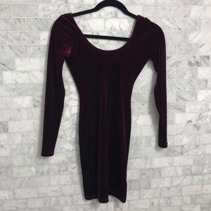 American apparel velvet long sleeve dress